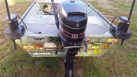 jon boat anchor pole micro power pole x2 youtube