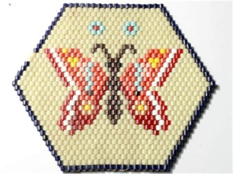 Beaded Table Mat by Big 8 X 7 Quot Vintage Beaded Butterfly Glass