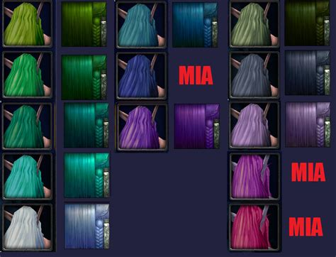 Wow Dk Hair Color | patch 6 2 night elf and human model updates wow