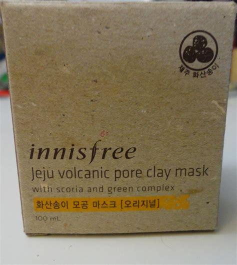 Masker Innisfree Jeju Volcanic Pore Clay Mask hime review innisfree jeju volcanic pore clay mask