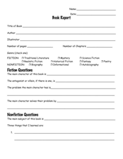Basic Book Report Guidelines by Printable Book Report Forms For 4th Grade Biography Book Report Form 4th Grade Worksheets On