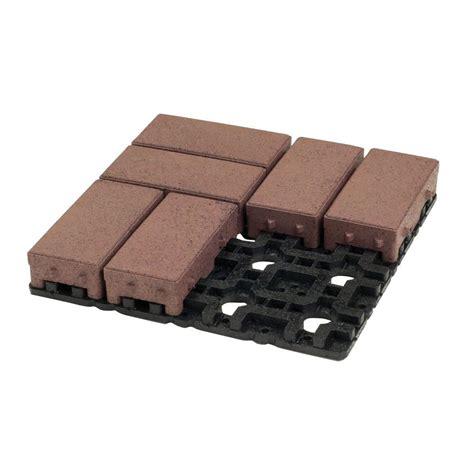 envirotile cobblestone 18 in x 18 in terra cotta rubber