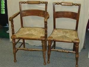 of primitive hitchcock chairs w seats one captains w