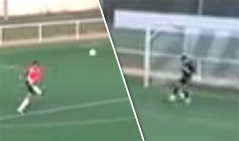 outrageous goals spanish goalkeeper scores outrageous goal from his own