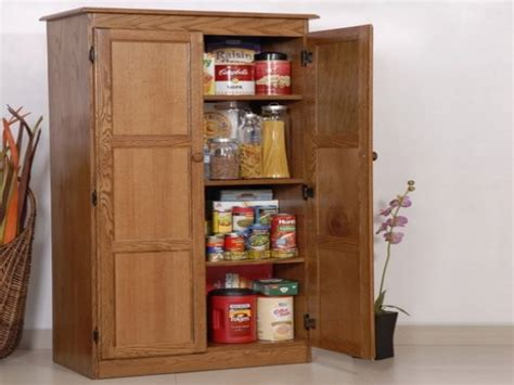 Tall Cabinet Doors Shelves Oak Kitchen Pantry Storage Kitchen Pantry Storage Cabinets