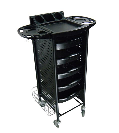 Trolly Salon foxhunter 5 drawers trolley storage hair hairdresser coloring salon black