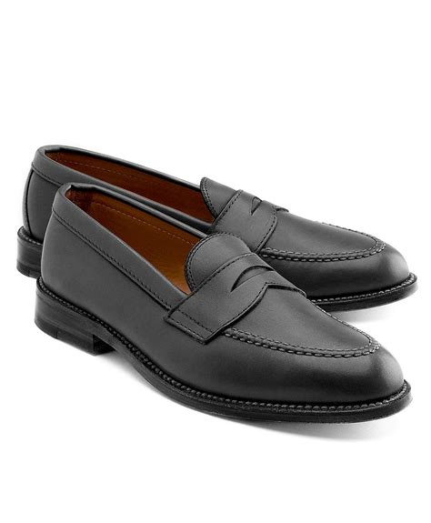 brothers loafer brothers sewn loafer in black for lyst