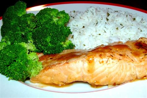 dinner salmon cook book is open