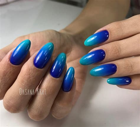 blue ombre nails the best 12 ombre nail fades unicorn and
