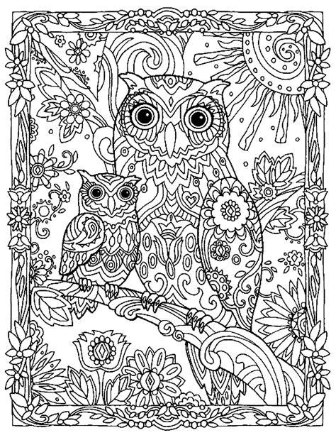 coloring book untuk dewasa mewarnai gambar burung hantu untuk dewasa terbaru