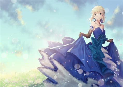 blondes anime girls imgur wallpaper 1920x1200 230243 wallpaper fate grand order saber blonde blue dress