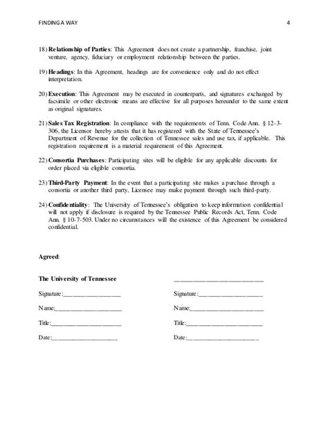 relationship agreement template termination of employment