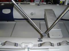 inflatable boat bimini mount inflatable boat bimin sun shade marinesafe australia pty ltd