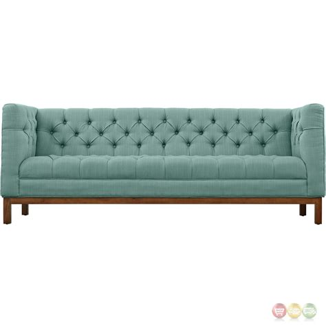 Panache Vintage Square Button Tufted Upholstered Sofa Laguna Tufted Sofa