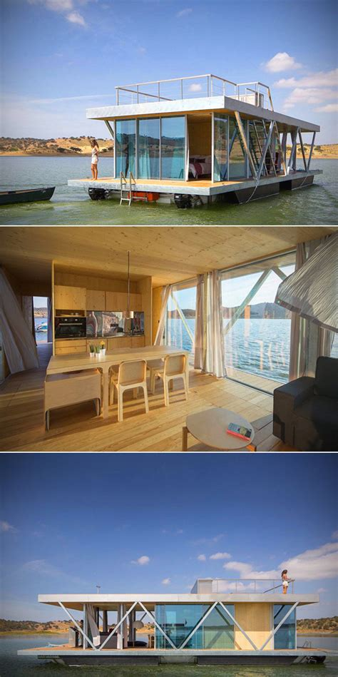 solar powered floatwing home in portugal generates a year floating solar home is completely off the grid generates