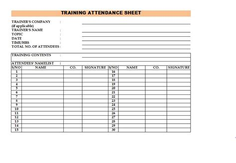 38 free printable attendance sheet templates 38 free printable attendance sheet templates