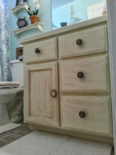 annie sloan bathroom cabinets this lovely guest bath cabinet makeover is by audrey of