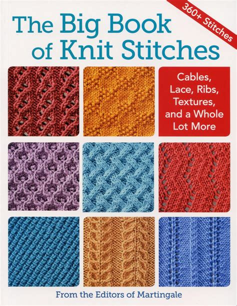 the knit stitch book the big book of knit stitches knitting book halcyon yarn