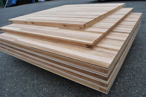 stack of wood stave sliding doors made of torsion box