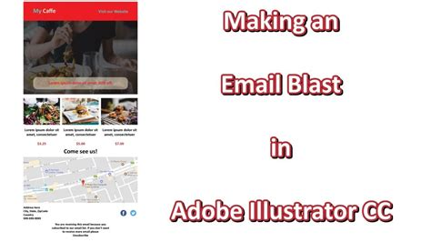 Making An Email Blast In Adobe Illustrator Cc Email Template Youtube Illustrator Email Template