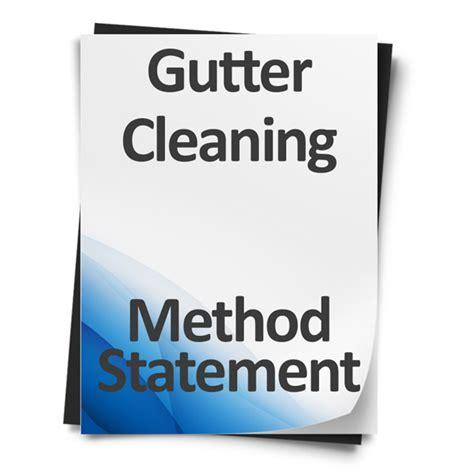 Download Gutter Cleaning Method Statement Template Gutter Template
