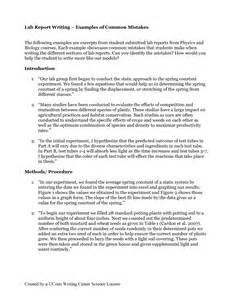 Lab Report Introduction Sample Writing A Lab Report Introduction Professional Writing