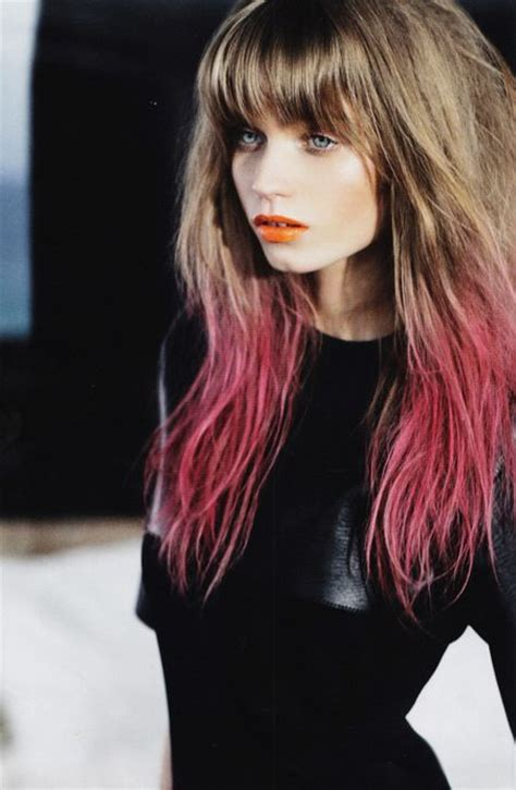 tips on the bottom of hair diy temporary dip dye hair studded dreams