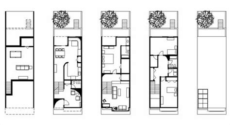Narrow Floor Plans For Houses philadelphia rowhouse