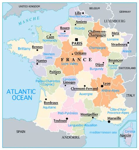 printable maps france regions of france map free printable maps