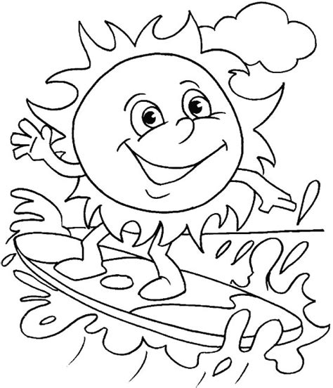 best summer sheets free coloring pages of summer beach fun