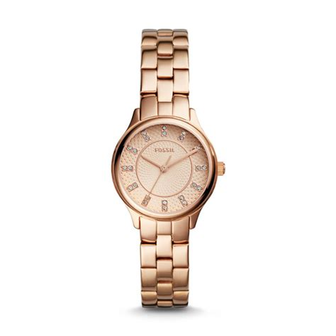 Fosil Bq1571 modern sophisticate three gold tone stainless steel fossil