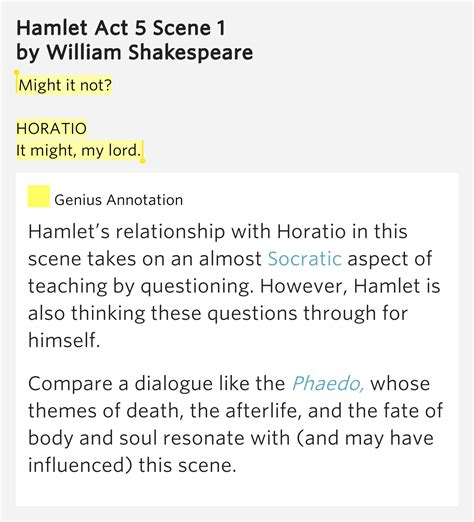 themes in hamlet act 1 scene 5 might it not horatio it might my lord hamlet act