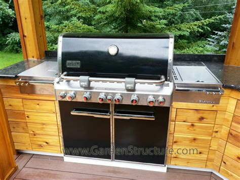 outdoor kitchen grills weber 1400 home and garden photo outdoor kitchen company in niagara