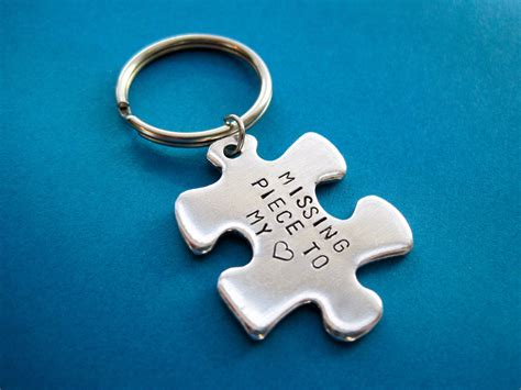 popular items for the missing piece on etsy puzzle piece keychain missing piece to my heart