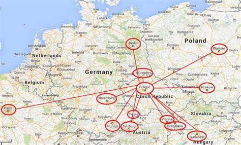 distance between major cities of the world tours of prague