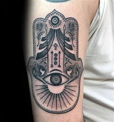 hamsa tattoo for men 80 hamsa designs for evil eye ink ideas