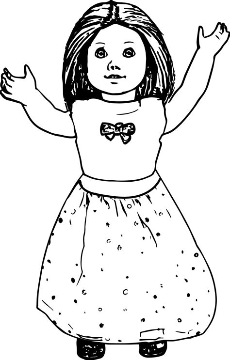 free coloring pages of american girl dolls american girl doll toy coloring page wecoloringpage