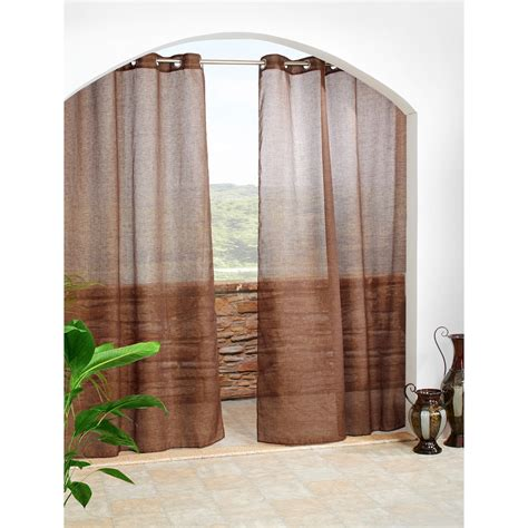 outdoor grommet curtains pretty indoor outdoor curtains homesfeed