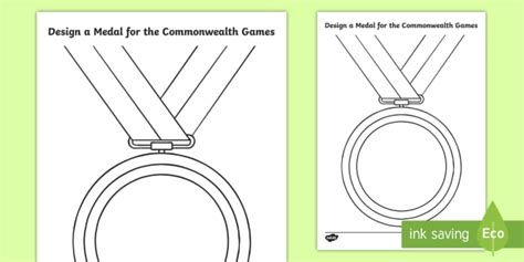 New Design A Commonwealth Games Medal Activity Sheet Medal Design Template