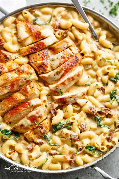 tuscan chicken mac  cheese  pot stove top