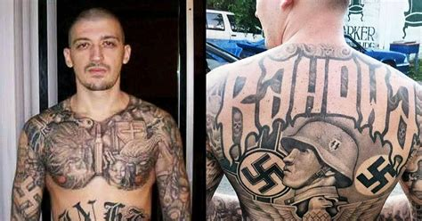 white supremacist tattoos white supremacist accused of killing three at wash