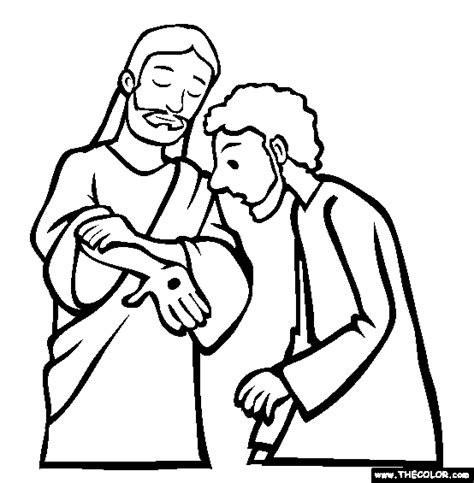 coloring pages jesus appears to the disciples doubting thecolour jesus appears to the
