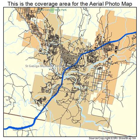 map of st george utah aerial photography map of st george ut utah