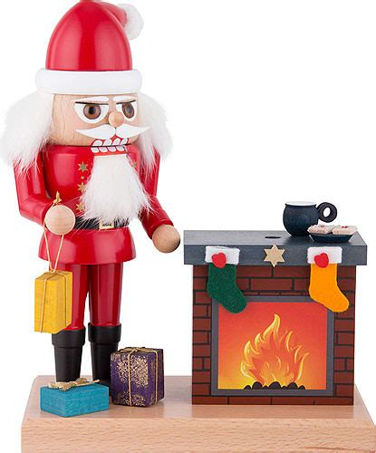 fireplace nutcracker nutcracker santa with fireplace 22 cm 8 7in by kwo