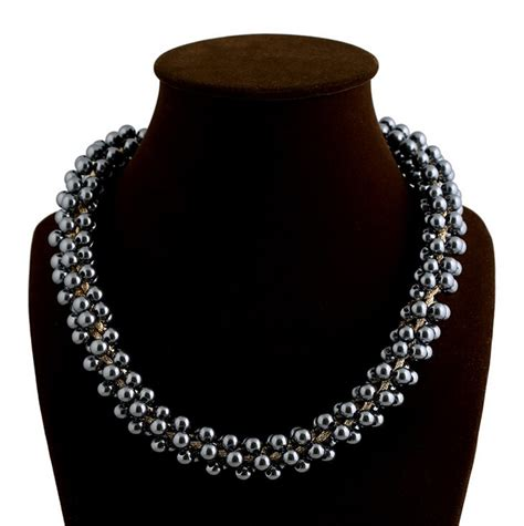 thick beaded necklace luxury multi pearl paragraph thick gold chain