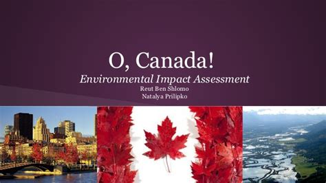 Environmental Mba Canada by Environmental Impact Assessment In Canada