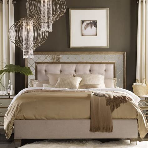 mirrored king bed hooker furniture sanctuary tufted california king mirrored