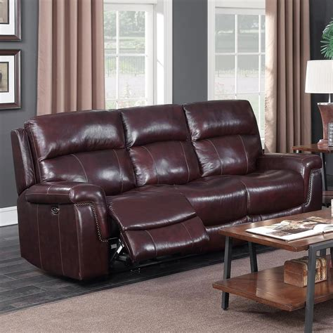 leather company sofa leather company 1387a power sofa with nailhead trim