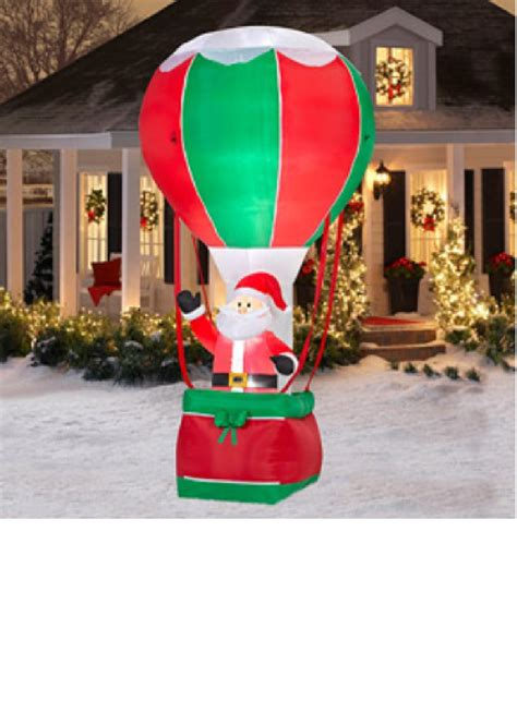 all outdoors christmas balloons santa airplane helicopter and balloon outdoor inflatables wikii