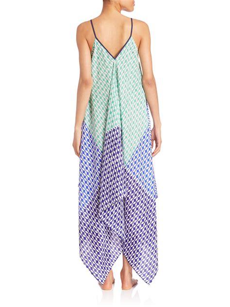 Dress Scarf lyst roberta roller rabbit oden silk scarf dress in blue